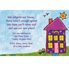 Housewarming Thank You Card Template by Custom House Painting Housewarming Invitations Thank You