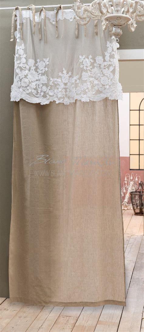 blanc mariclo tende tenda shabby chic con mantovana quot arabella collection