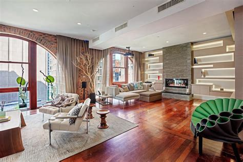design styles your home new york spectacular tribeca loft combining two duplex penthouses