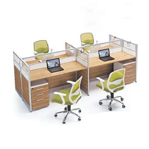 Computer Desks Office Works Office Furniture Office Screen Staff Card Bit Computer Desk Work Stations 4 Person On Aliexpress