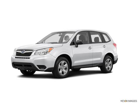 subaru white 2016 2016 subaru forester kelley blue book