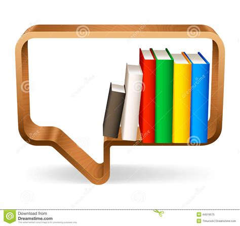 bookshelf stock vector image 44519575