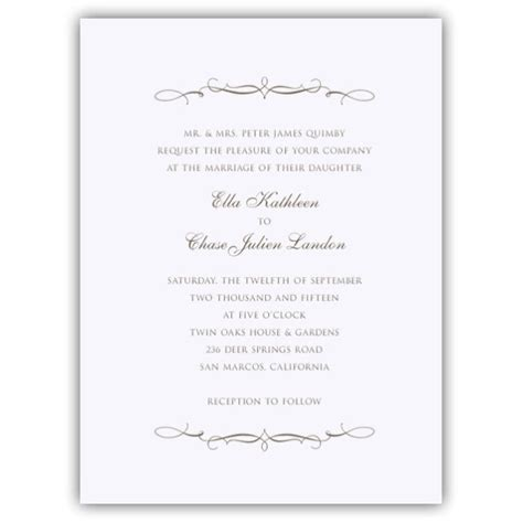 Simple Elegance Wedding Invitations   PaperStyle
