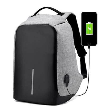 new usb port canvas laptop backpack bag usb port travel school bags
