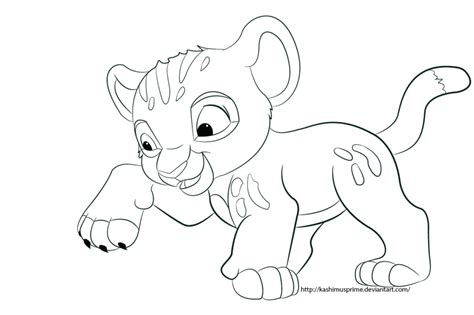 Baby Simba By Kashimusprime On Deviantart Baby Simba Coloring Pages