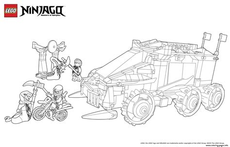 ninjago vehicles coloring pages ninjago spinjitzu coloring pages vehicles ninjago sensei