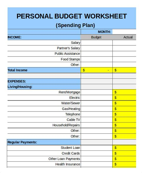 Templates For Household Budgets by Family Budget Template 9 Free Sle Exle Format