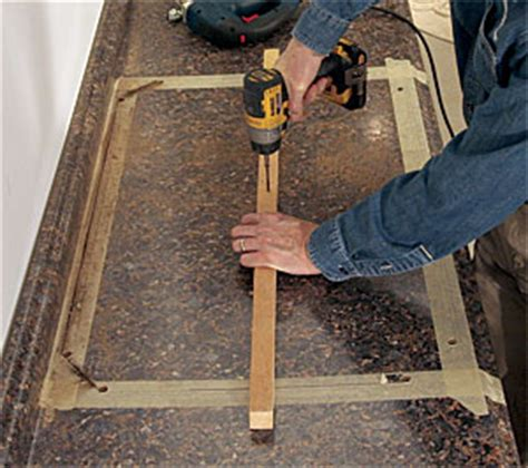 Cutting Laminate Countertop With Jigsaw by Cut A Laminate Countertop For A Sink Homebuilding