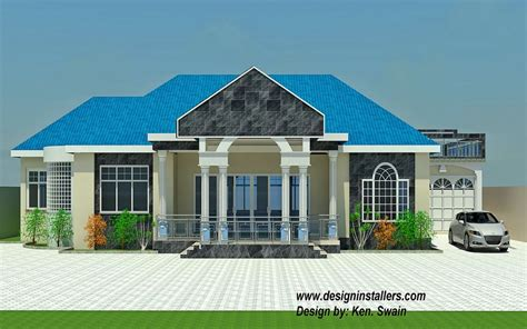 ghana home plans three bedrooms two bathrooms a kitchen on 4 bedroom house