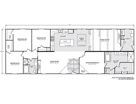 floor plan standards canyon lake 28764k fleetwood homes