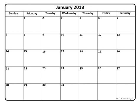2018 monthly calendar with daily notes free printable templates with