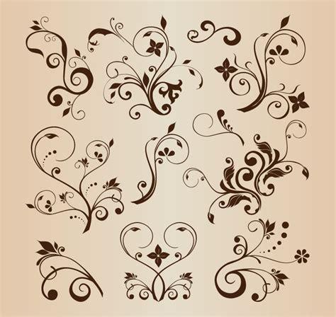 Decorative Flourish by Vector Llustration Set Of Swirling Flourishes Decorative