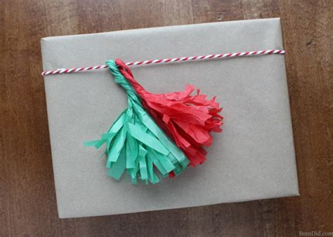 How To Make A Tissue Paper Tassel - how to make tassels from tissue paper bren did