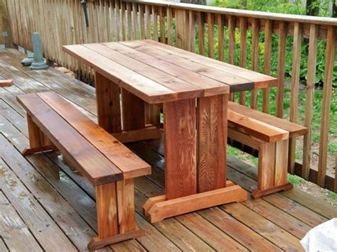 trestle picnic table plans trestle picnic table and benches by