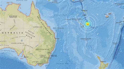 earthquake new caledonia 7 0 mag earthquake strikes in pacific ocean near new