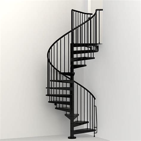 Home Depot Kitchen Design Help by Arke Civik 63 In Black Spiral Staircase Kit K03020 The