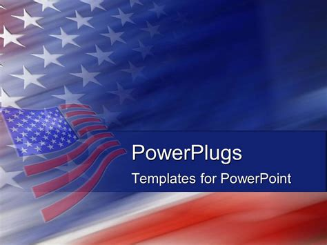 Powerpoint Template American Flag United States God Bless America 1594 American Powerpoint Templates