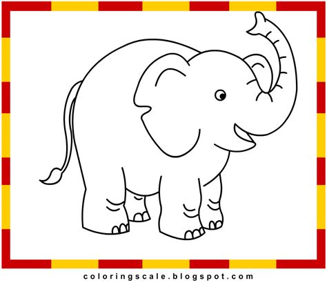 Color Of Elephants by Elephant Pictures To Color For