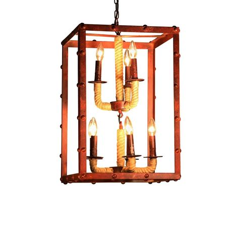8 light rectangular chandelier edison rivka collection 8 light steel indoor rectangular chandelier ld4912 the home depot