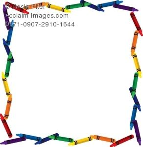 color crayon border clipart & stock photography | acclaim