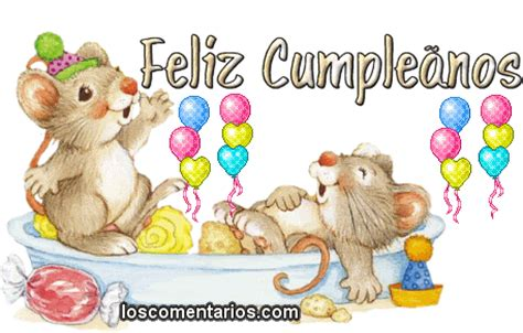 imagenes cumpleaños tiernas im 225 genes y gifs feliz cumplea 241 os tartas y animales