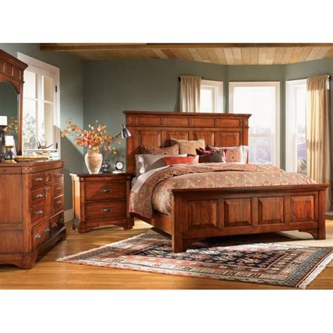 a america bedroom furniture a america kalispell 4 piece king bedroom set in mahogany