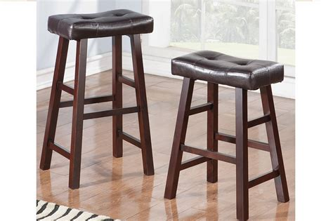 Brown Leather Bar Stool Poundex F1240 Brown Leather Bar Stool A Sofa Furniture Outlet Los Angeles Ca