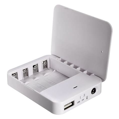 charger battery aa portable 4x aa battery usb power bank charger for