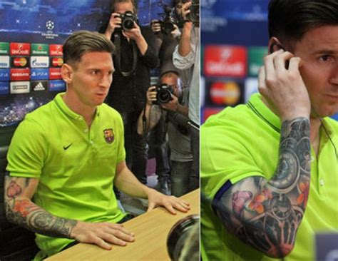 messi tattoo sword messi tattoo as the barca man unveils new ink let s look