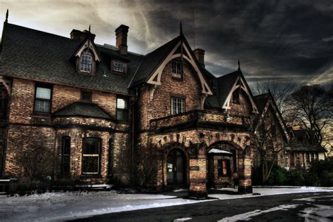 craig house beacon ny haunted mansion hdr creme
