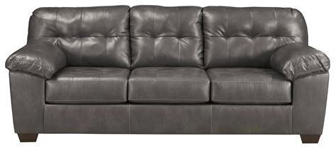 leather couches with pillows contemporary faux leather sofa w pillow arms by signature