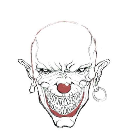 joker tattoo tutorial evil skull coloring pages evil clown drawings drawing