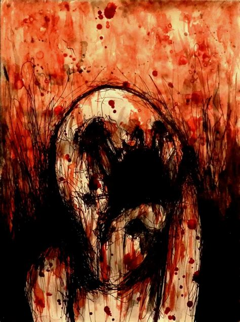 blood paint maxime taccardi blood paintings popcorn horror