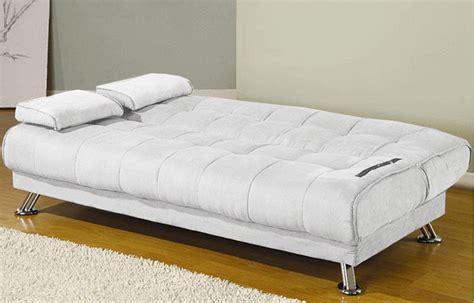 divano letto bianco divano letto 187x112x40 bianco o nero in ecopelle