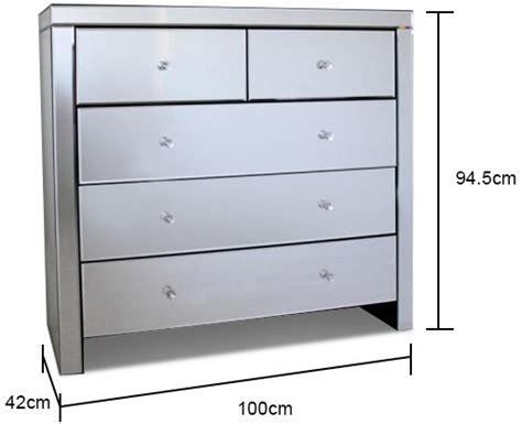 Mirrored Bedroom Chest Of Drawers by Large Mirrored Chest Of Five Drawers Bedroom Chests Of