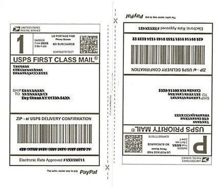 usps shipping label template shipping labels 50 half page shipping labels 25 sheets for