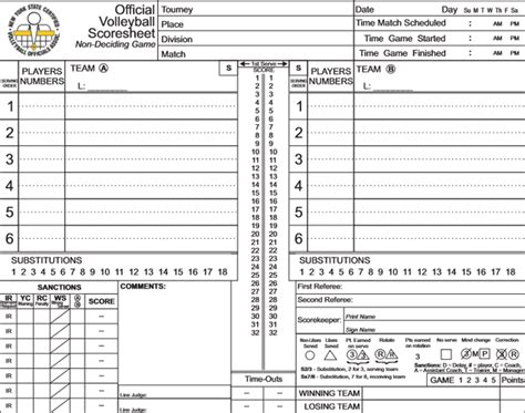 printable volleyball score cards printable volleyball score sheets download in pdf