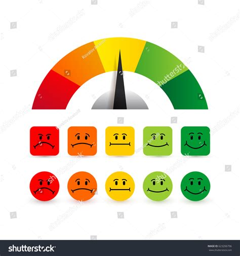 color scale for color scale arrow green scale stock vector 623206796