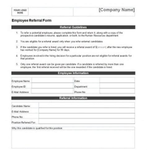 Employee Referral Form Employee Referral Form Template Employee Referral Bonus Template