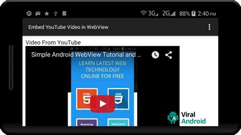 android tutorial youtube video how to embed youtube video in android webview viral