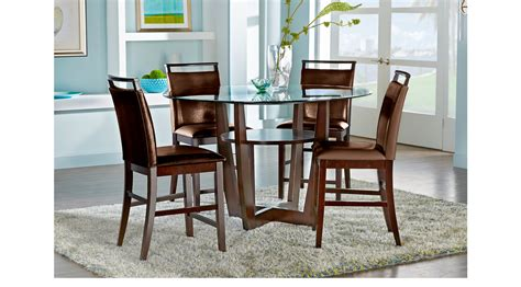 adelson chocolate 5 pc counter height dining room dining ciara espresso dark brown 5 pc counter height dining set