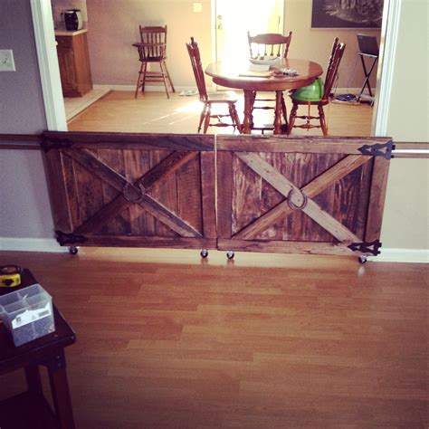 Double Porch House Plans Custom Made Barn Door Rolling Baby Gates House Stuff