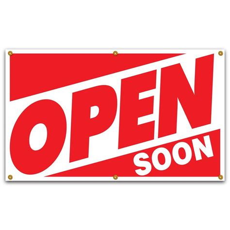 Open House Signs Home Depot by Lynch Sign 5 Ft X 3 Ft On White Vinyl Open Soon