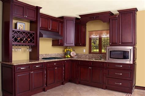 warehouse kitchen cabinets north american maple black cherry color kitchen cabinets