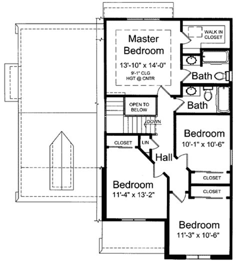 house plans with master suite on second floor beatiful great room design 39083st 2nd floor master