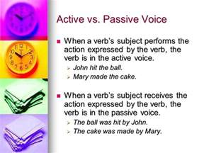use strong active verbs ppt