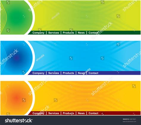 design header html concept and design web page header template stock vector