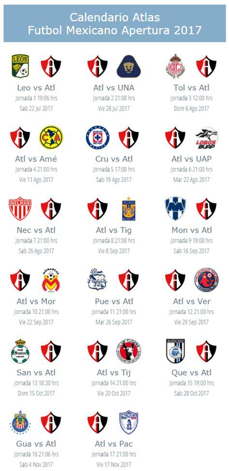 Calendario Xolos 2017 Local Apuntes De Futbol