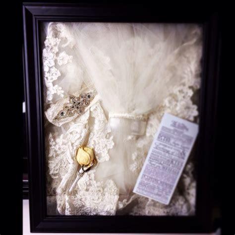 Wedding Veil Box shadow box display of my wedding veil garter husband s