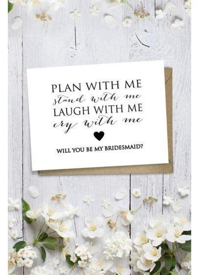 Heart Will You Be My Bridesmaid Wedding Card   David's Bridal